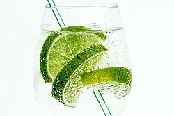 A Refreshing Drink with Lime