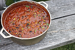 Chili in a pot with beans - photo by American Ramblers